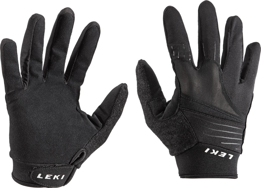 Leki Master Long Nordic Walking & Trekking Gloves, Medium Black