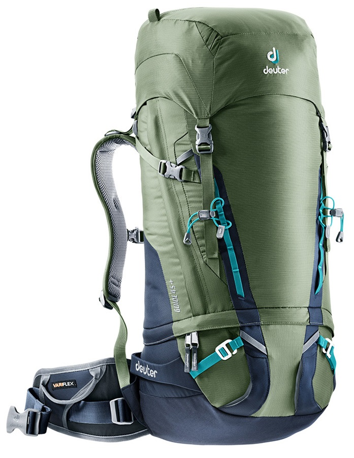 54588d911dc11 Deuter Adult Unisex Guide 45+ Hiking Climbing Backpack 45L+ Khaki-navy