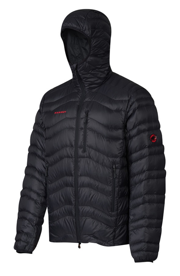 Mammut Broad Peak Insulated Hooded Climbing Jacket, XL Black
