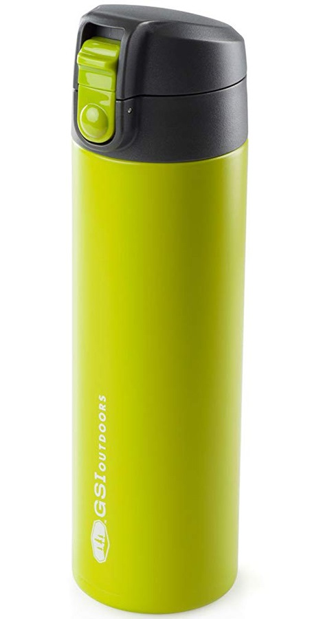 GSI Outdoors Microlite Flip Vacuum Insulated Bottle, 500ml Green