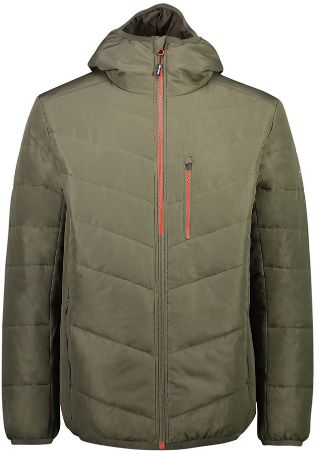 Mons Royale Rowley Insulated Hood Midlayer/Jacket, M Olive