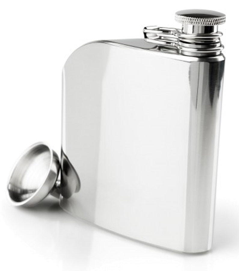 GSI Outdoors Glacier Stainless Trad Flask Stainless Steel Hip Flask