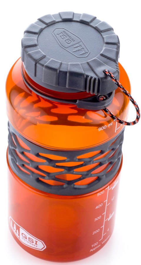 GSI Outdoors Infinity Duk Jug BPA-free Water Bottle, 1 Litre, Orange