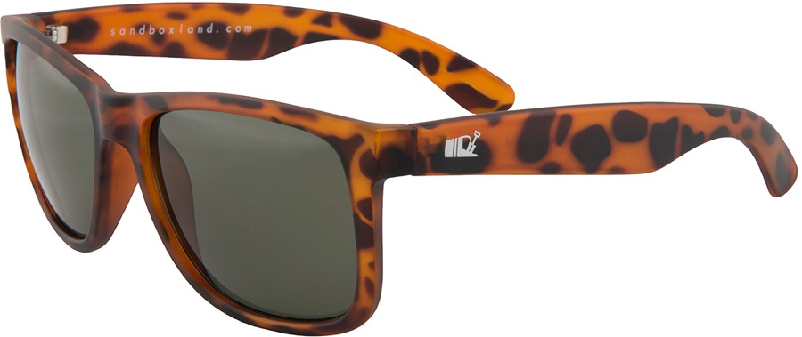 Sandbox Nomad Sunglasses, M, Brown Tortoise, Silver Chrome