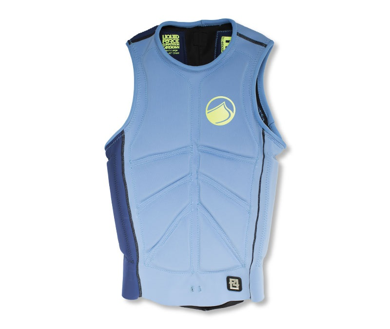 Liquid Force Cardigan Comp Men's Wakeboard Impact Vest, S Blue