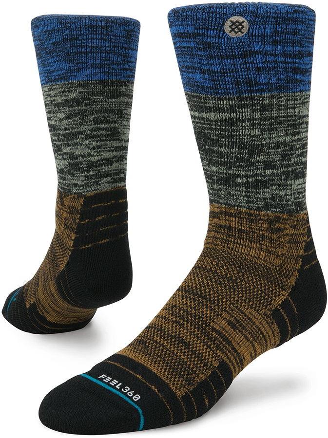 Stance Perrine Hike Crew Walking/Hiking Socks, M Brown