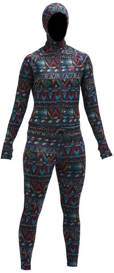 Airblaster Classic Ninja Suit, Womens Base Layer, L Wild Tribe