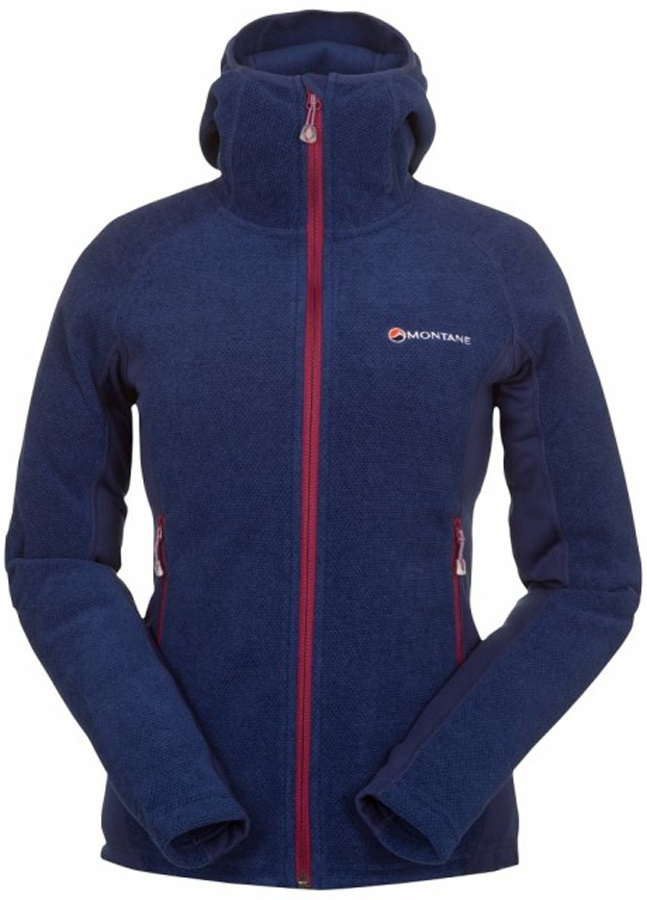 Montane Womens Volt Hoodie Women's Fleece Jacket, UK 12 Antarctic Blue