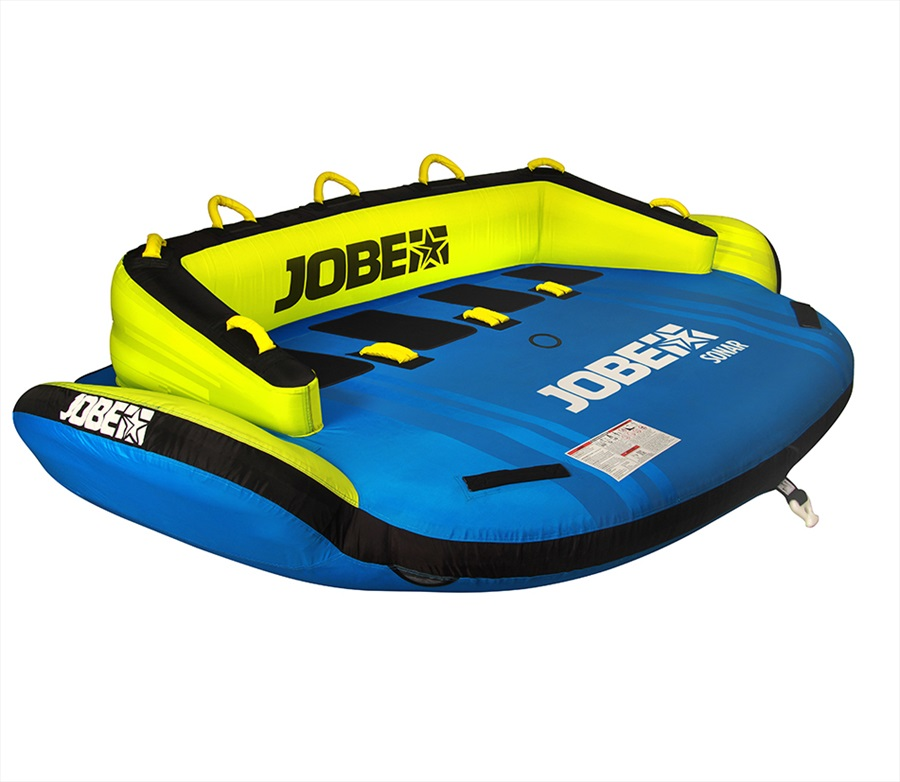 Jobe Space Series Towable Inflatable Tube, 4 Rider Sonar Yellow 2018