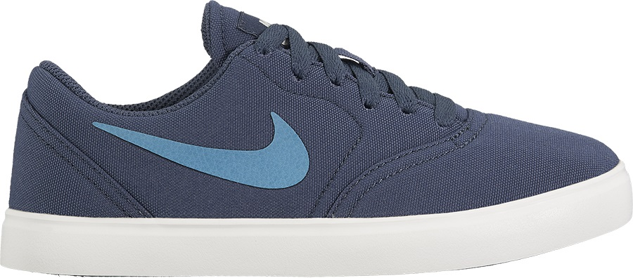 Nike SB Check Canvas Women's/Kid's Skate Shoes, UK 3 Blue/Aqua