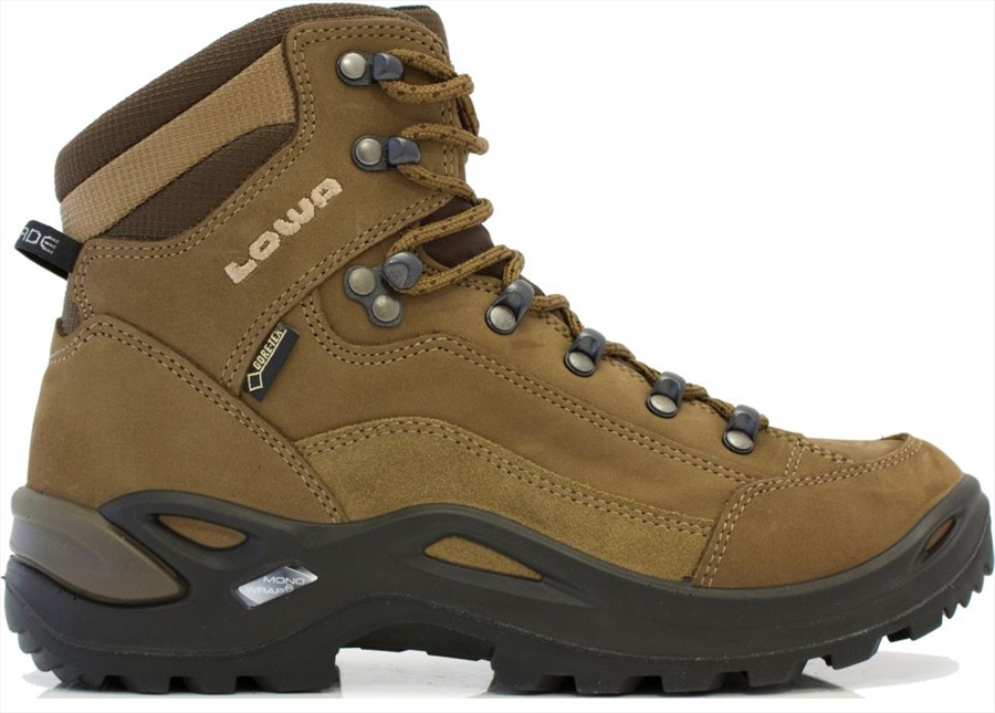 Lowa Renegade GTX Mid Women's LTR Hiking Boots, UK 5 Taupe