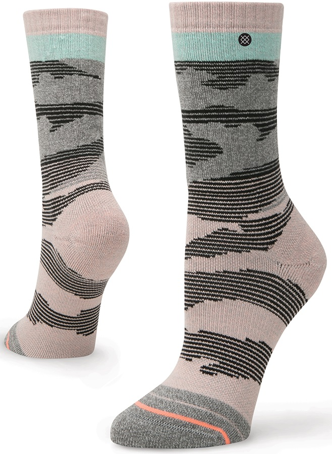 Stance Womens Altimeter Outdoor Crew Walking/Hiking Socks, M Pink