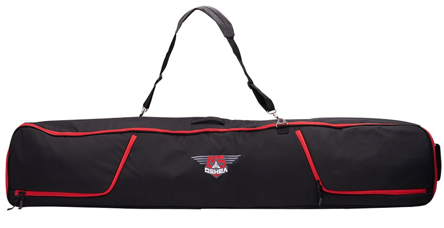 O' Shea Deluxe Wheelie Ski Bag 190cm Black/Red