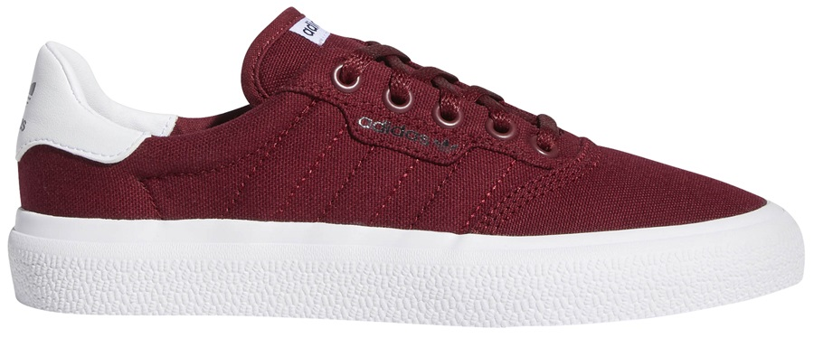 Adidas 3MC Womens/Kids Trainers Skate Shoes, UK 3 Burgundy/White