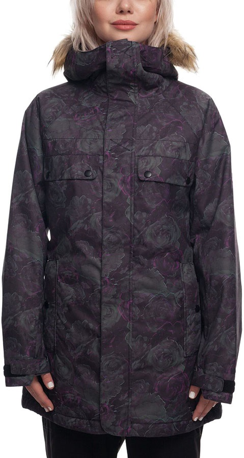 b27fab4b 686 Dream Womens Snowboard/Ski Jacket, S Ghost Rose Camo