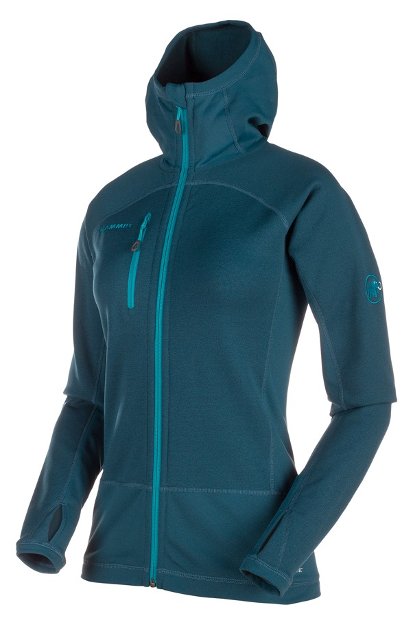 Mammut Womens Aconcagua Pro ML Hooded Jacket, UK 16 Orion Aqua