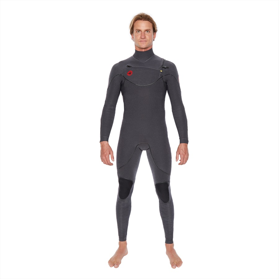 Body Glove Red Cell 2/2 Slant Zip Full Surfing Wetsuit, MT Jet Black