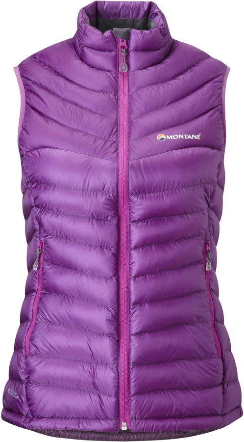 Montane Featherlite Gilet Women's Down Vest Body Warmer, UK 10 Dahlia