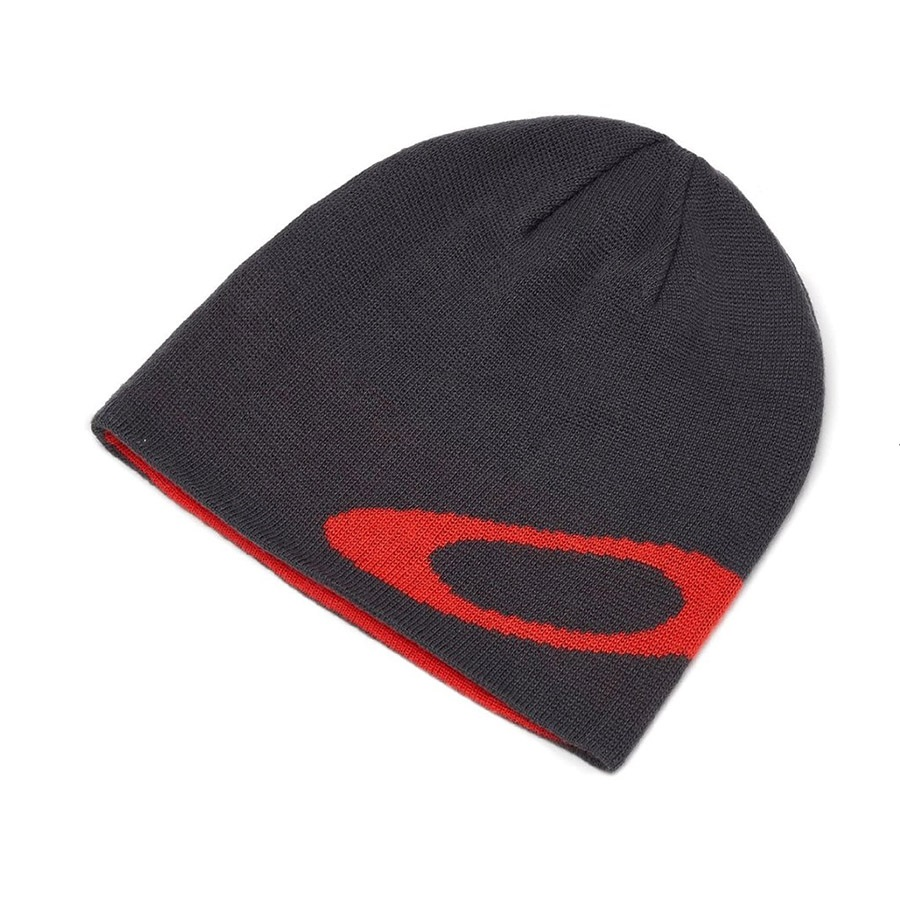 new style 82580 552f7 Oakley Ellipse Snowboard Ski Beanie, One Size Poppy Red