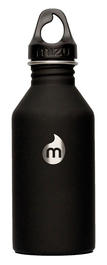 Mizu M6 Premiere Stainless Steel Water Bottle, 600ml, Black