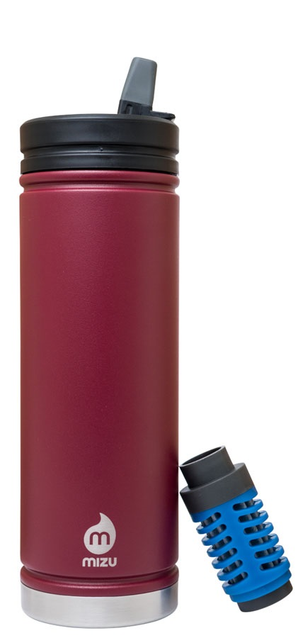 Mizu 360 V7 Everyday Filter Insulated Water Bottle, 650ml Burgundy