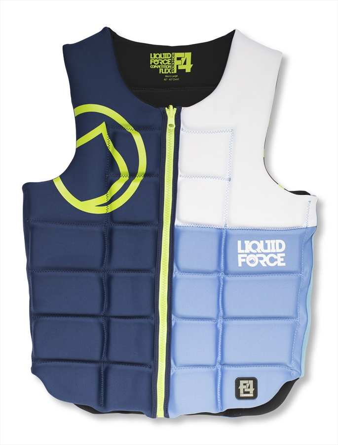 Liquid Force Flex Wakeboard Impact Vest, M Blue