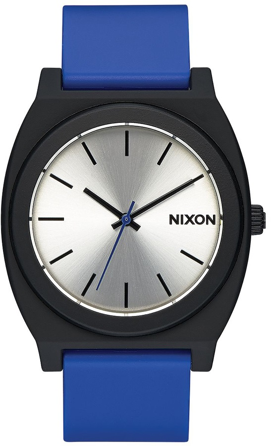 Nixon Time Teller P Men's or Womens Wrist Watch, One Size, Black/Blue
