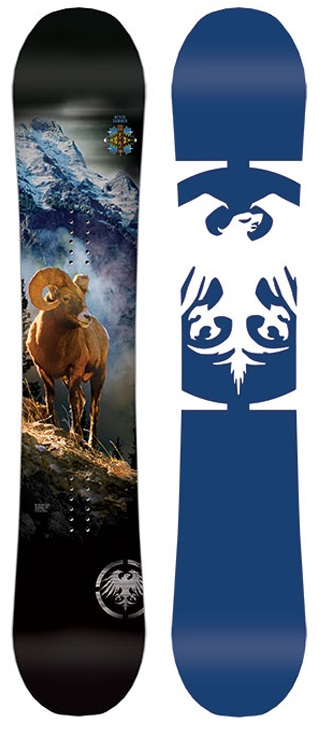 Never Summer West Rocker Camber Snowboard, X160cm Wide 2019