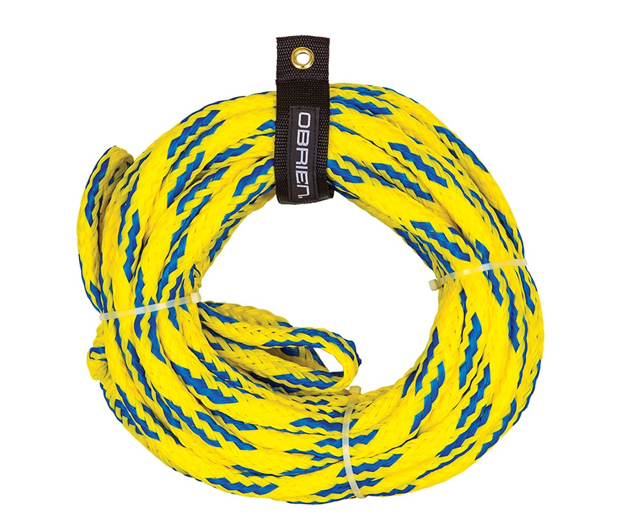 O'Brien Floating Towable Tube Rope, 4 Person Yellow Blue 2018