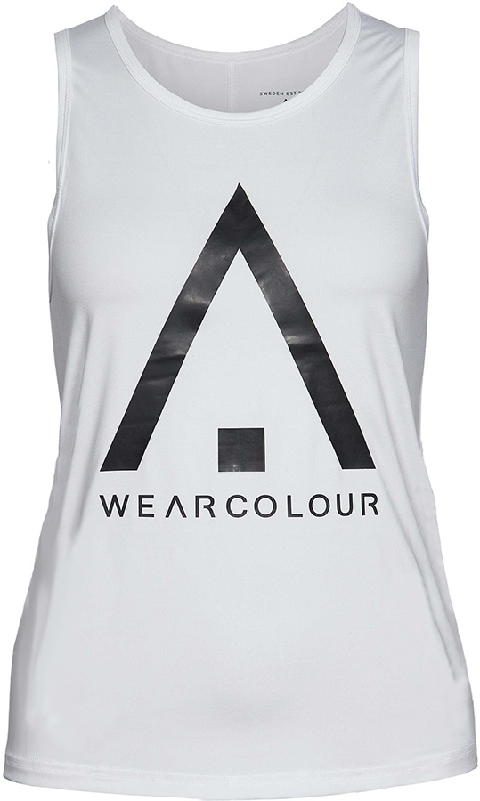 Wearcolour Logo Women's Tank Top, XS White