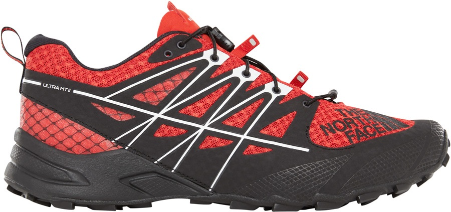 The North Face Ultra MT II Trail Running Shoe, UK 7 Fiery Red/Black