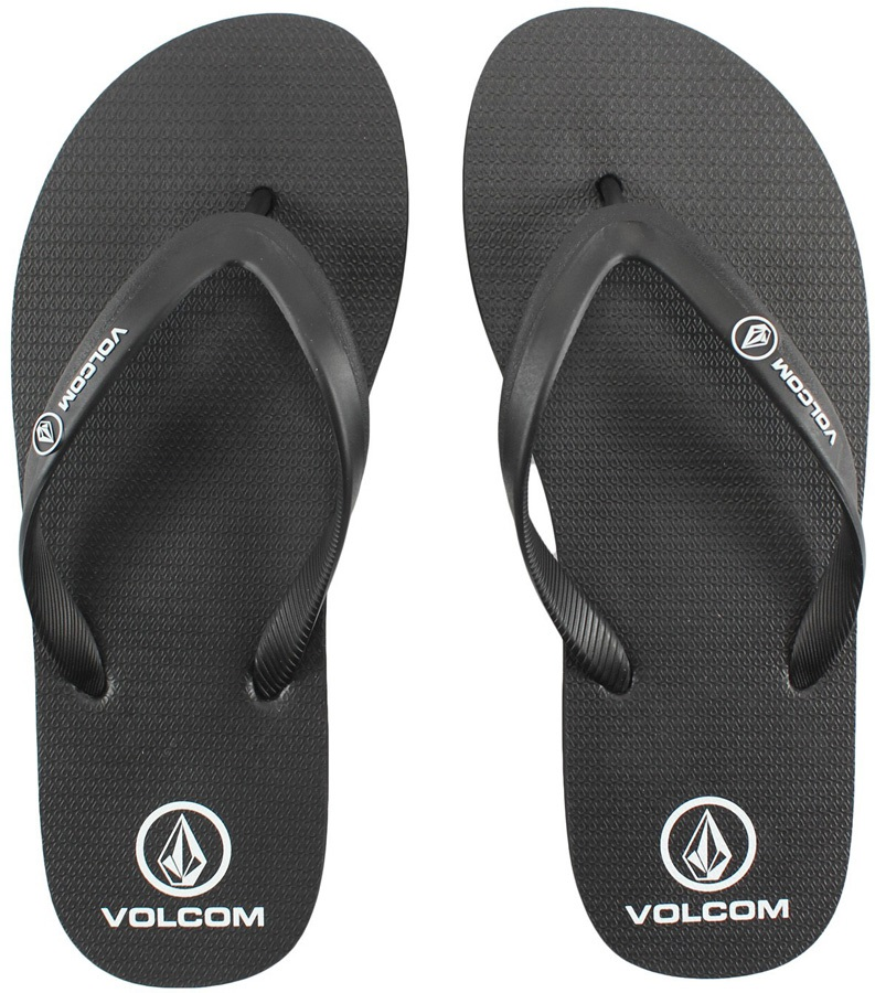 Volcom# Rocker Flip Flops, UK 10 Black