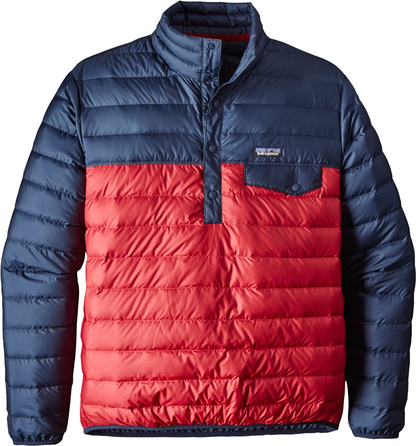 Patagonia Down Snap-T P/O Men's Insulated Pullover, S Classic Red