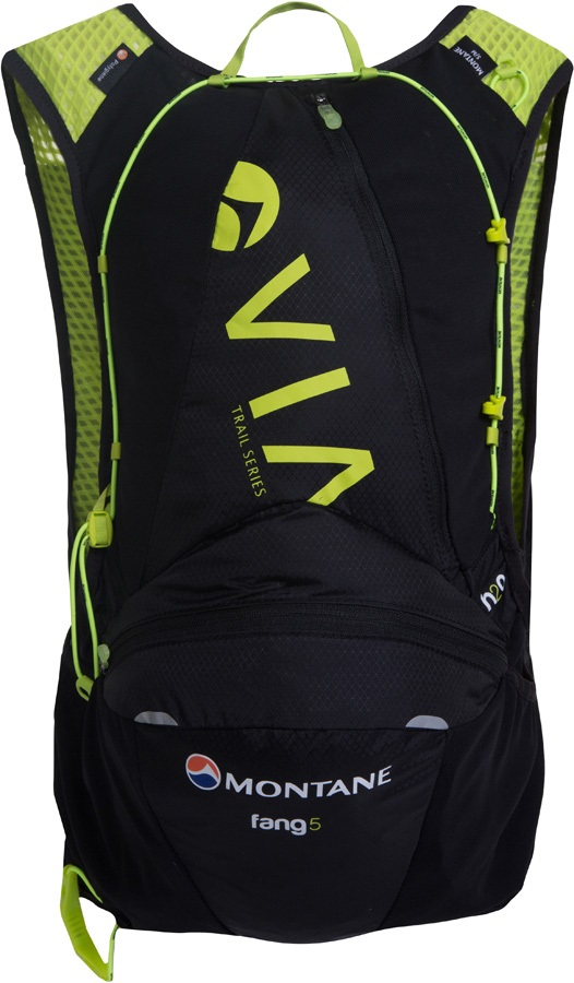 Montane VIA Fang 5 Trail Running Vest Pack, S/M Black