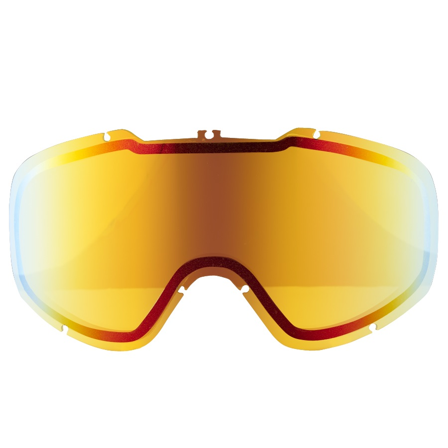 Dragon DX2 Snowboard/Ski Goggle Spare Lens, Yellow Red Ionized