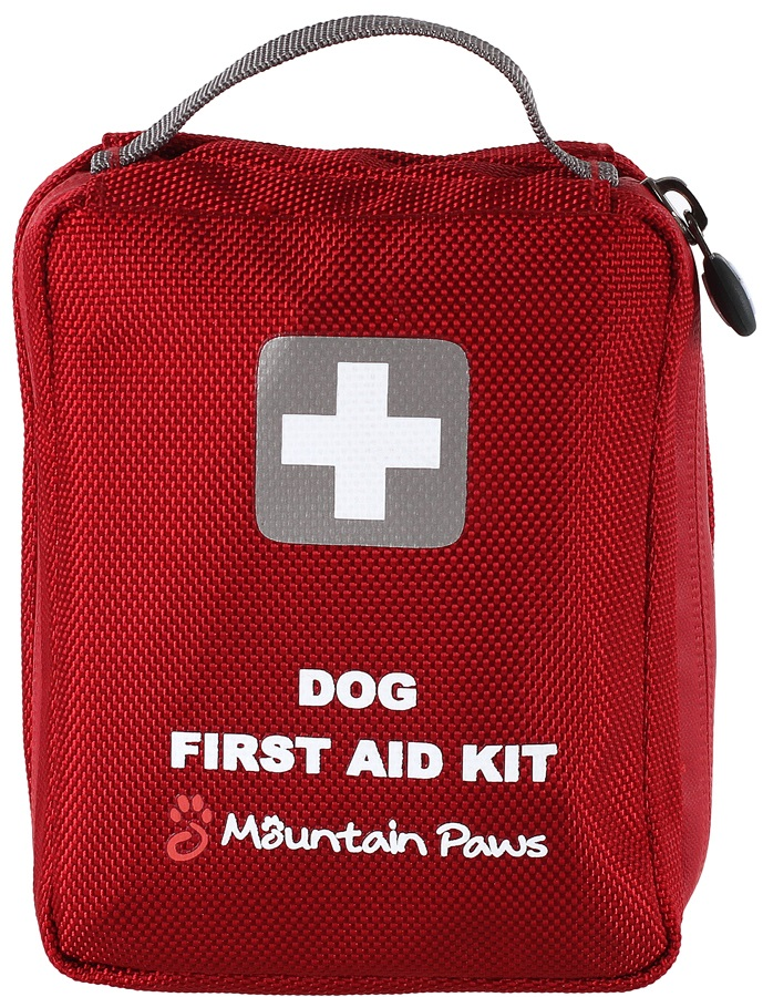 Mountain Paws Dog First Aid Kit Pet Lifestystems, 16 Items Red