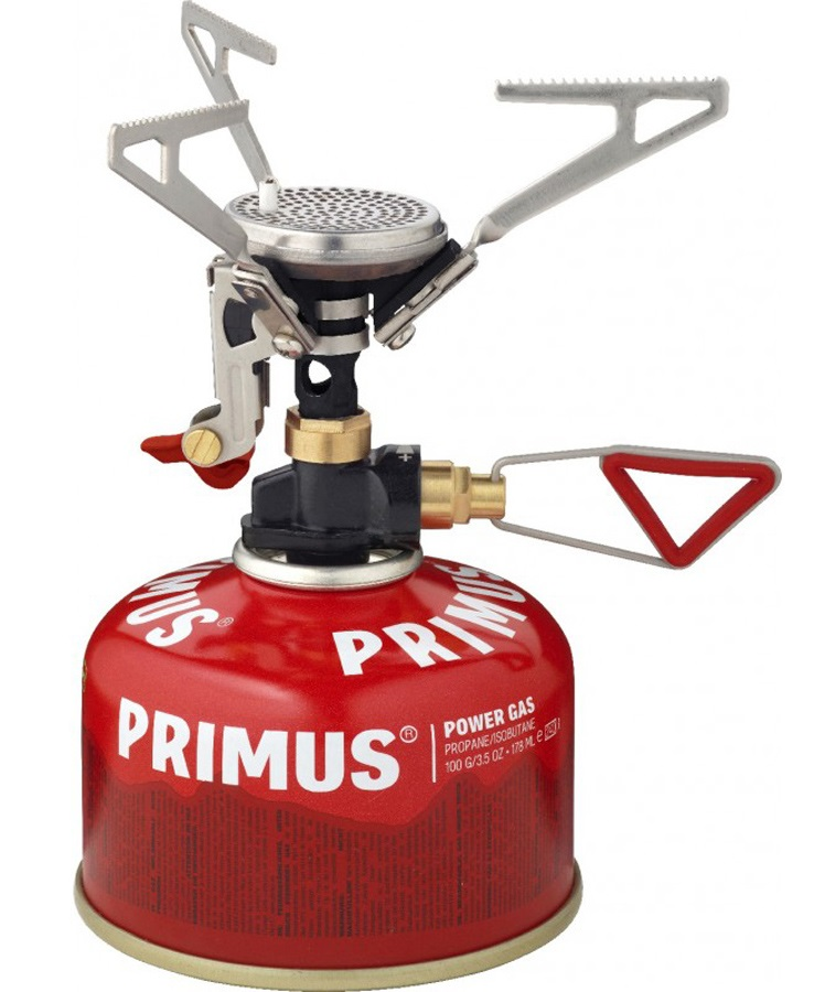 Primus MicronTrail Regulated Compact Camping Stove + Piezo, Silver