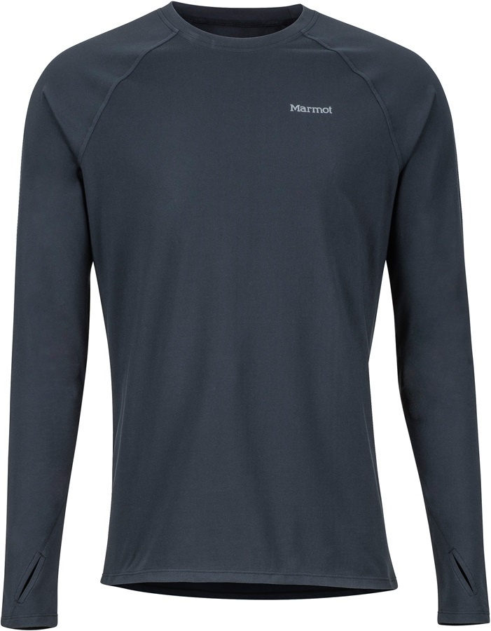 Marmot Kestrel Lightweight LS Crew Technical Baselayer, L Black