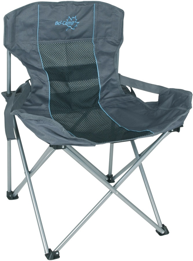 Bo-Camp Folding Chair Deluxe Compact Camp Chair, Anthracite