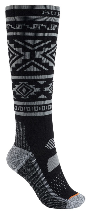 Burton Performance Midweight Women's Ski/Snowboard Socks, S/M Black