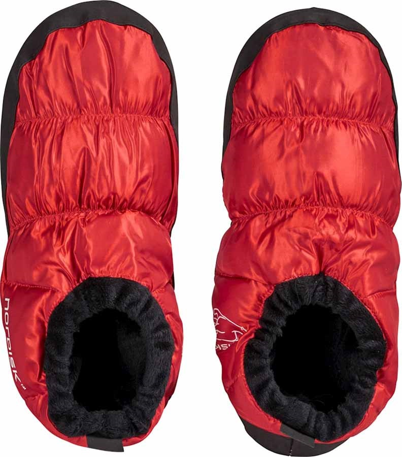 Nordisk Mos Down Shoes Insulated Camping Slippers, UK 2.5-5 Red