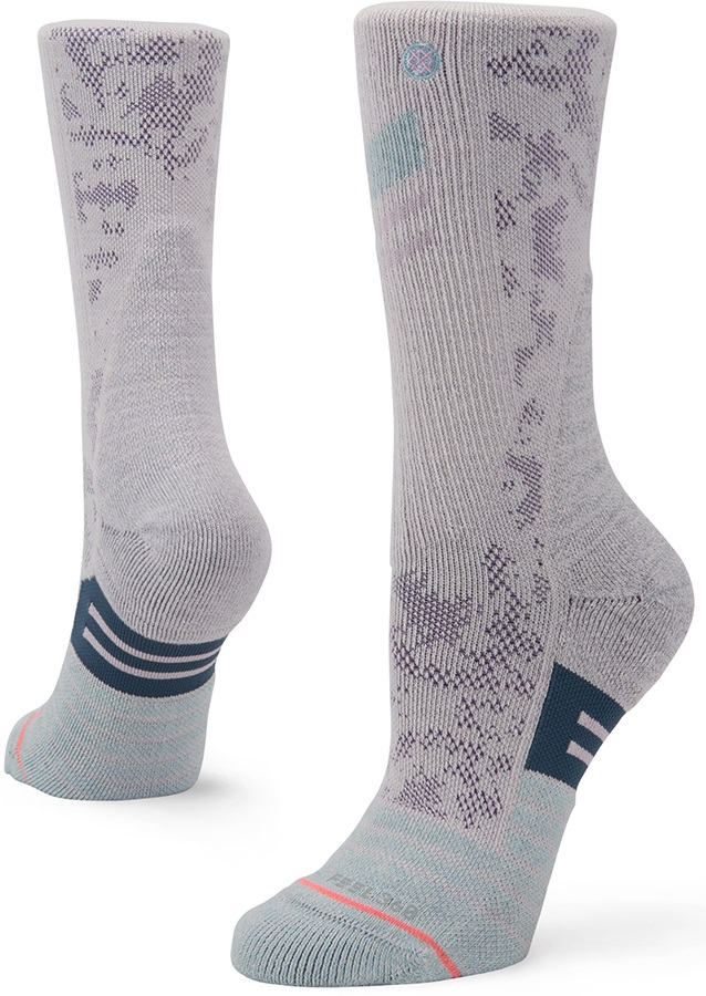 Stance Womens St Helens Trek Crew Walking/Hiking Socks, S Lilac Ice
