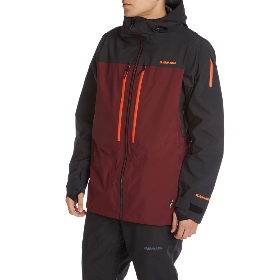 armada balfour gore tex pro 3l ski snowboard jacket s burgundy. Black Bedroom Furniture Sets. Home Design Ideas