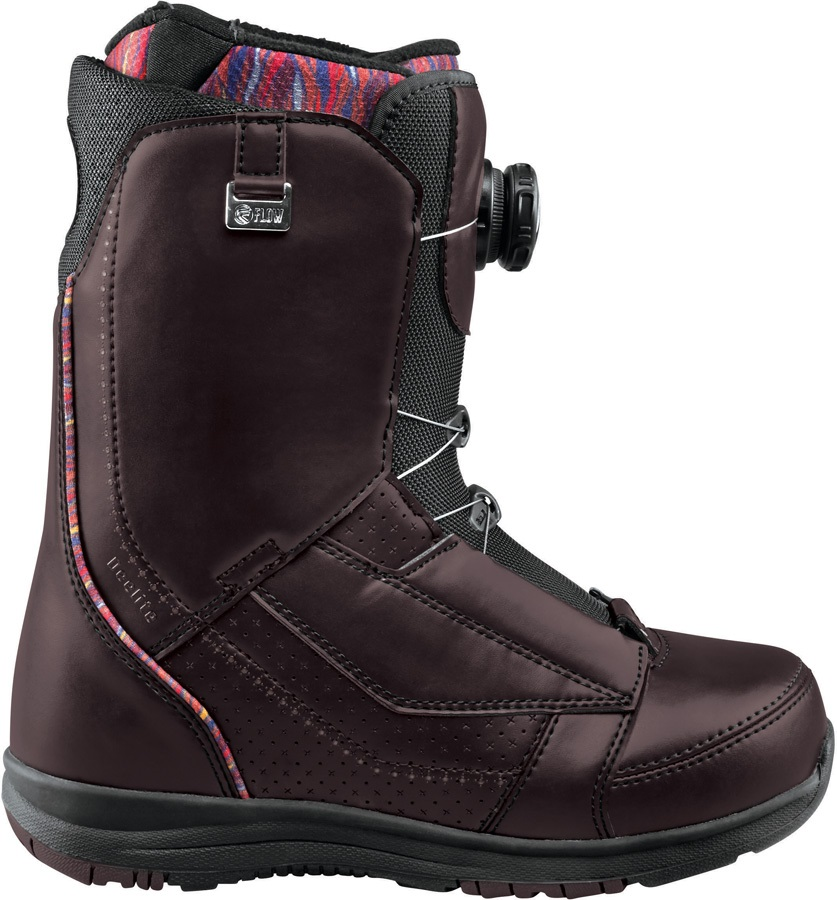 Flow DeeLite Coiler Women's Snowboard Boots, UK 4.5, Black, 2017