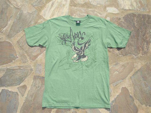 Liquid Force Eagle SS Knit T Shirt, Medium, Green