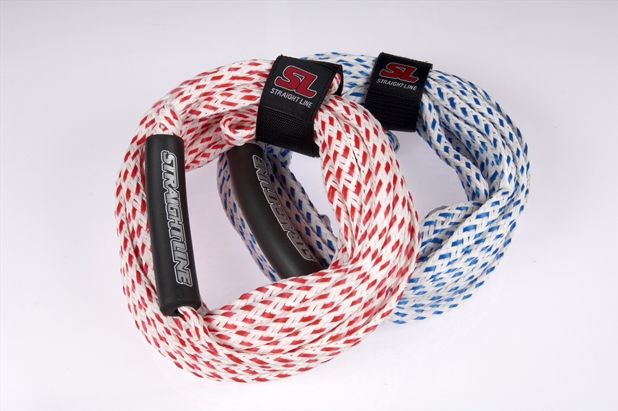 Straight Line Stock Towable Tube Rope, 60' 2 Person Blue White