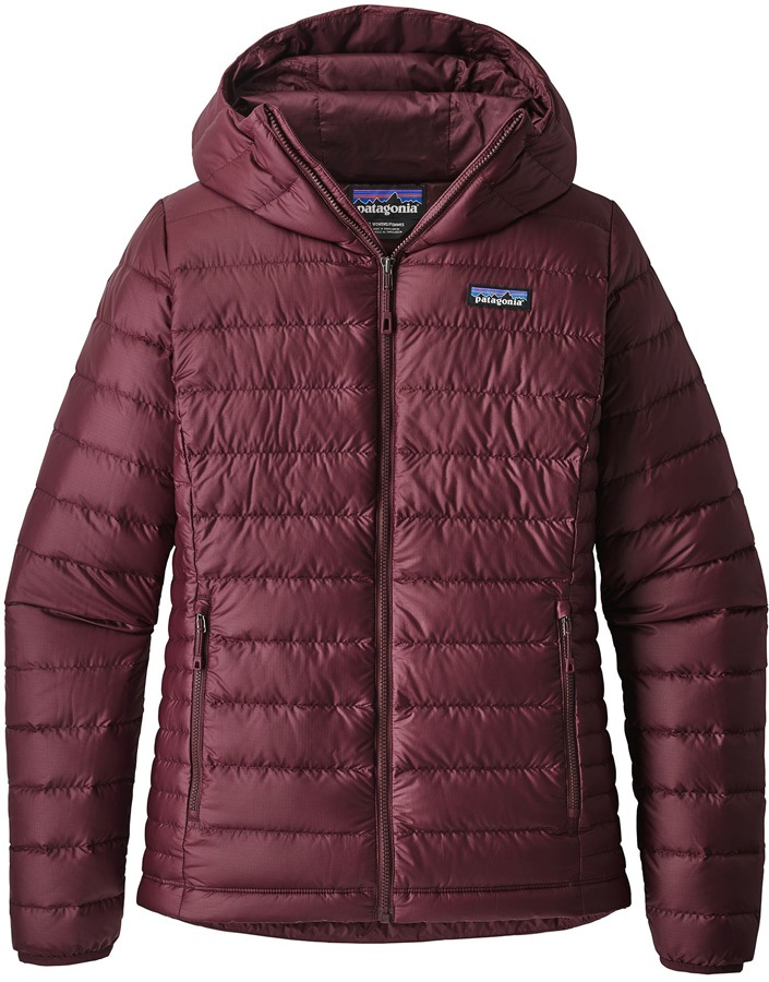 Patagonia Womens Down Sweater Hoody Insulated Jacket, M Dark Currant