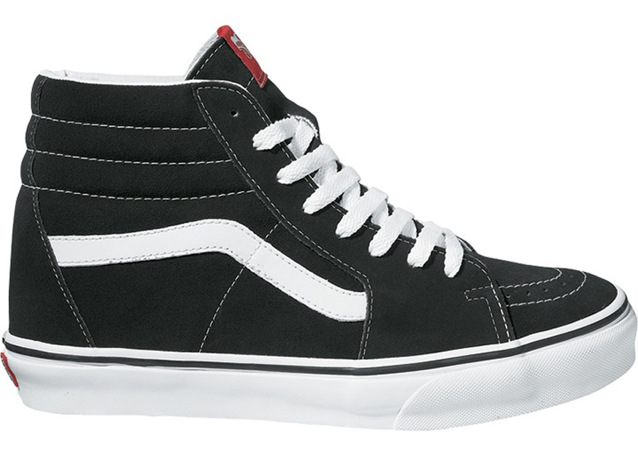 Vans Sk8-Hi Skate Shoes, UK 12 Black/White