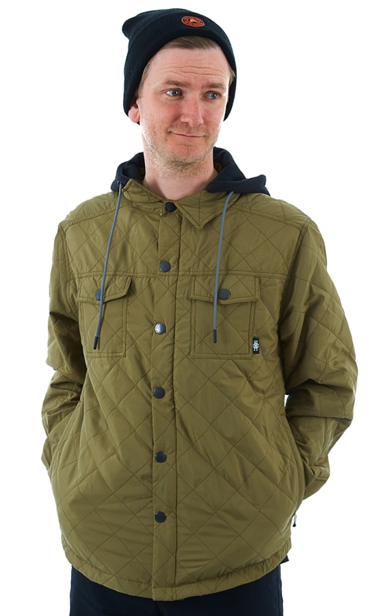 Saga Workwear Ski/Snowboard Insulated Jacket, L Olive