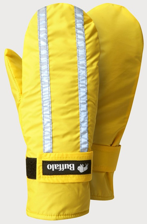 Buffalo Hi Viz Mitts Pile Lined Mittens - L, Yellow